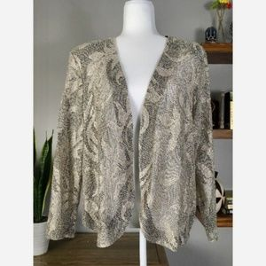 Vintage Giorgio Sant Angelo Lace Sheer Gold Blazer